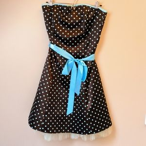Strapless Polka Dot Jessica McClintock Dress Sz 11